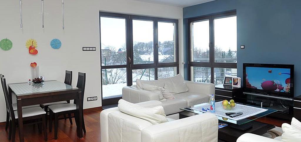 zdjęcie przedstawia apartament w Szczecinie na sprzedaż widok na salon