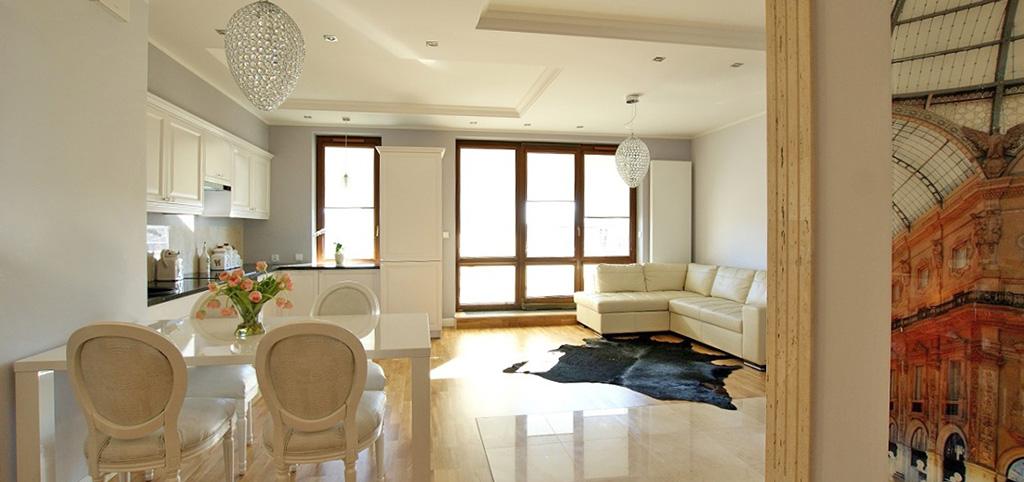 zdjęcie przedstawia luksusowy salon w apartamencie do sprzedaży w Białymstoku