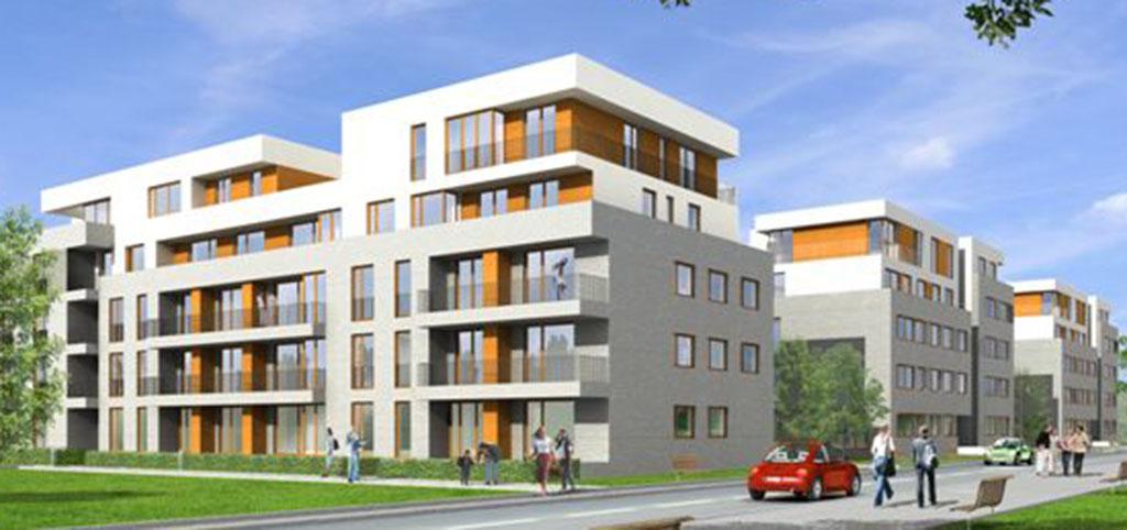 na zdjęciu apartamentowiec w Warszawie, w którym znajduje się apartament na sprzedaż