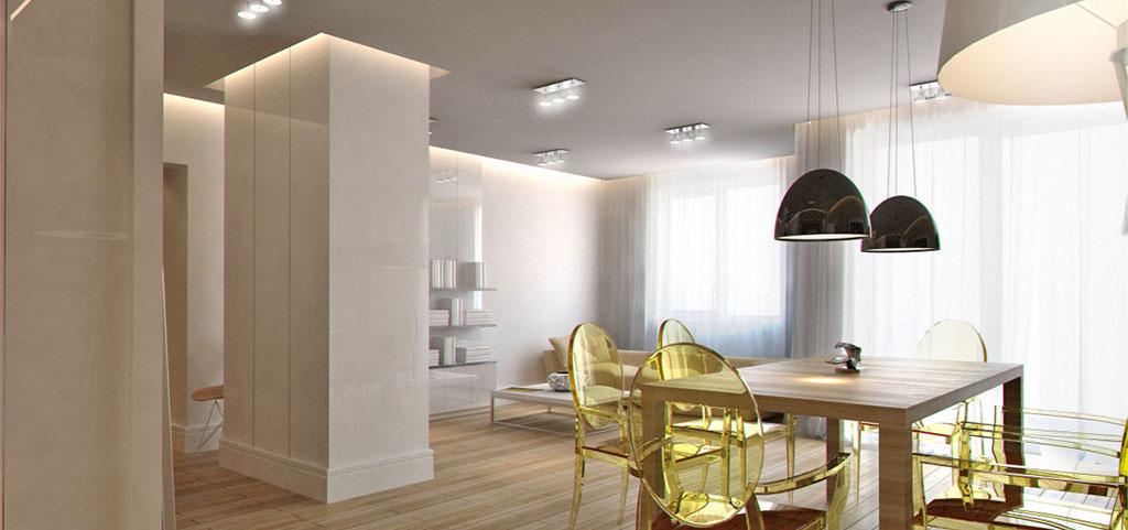 zdjęcie przedstawia salon w apartamencie na Mazurach