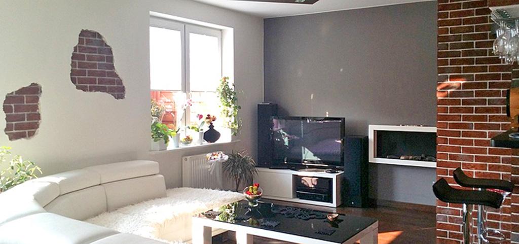 zdjęcie przedstawia luksusowo urządzony salon w apartamencie do wynajmu w Szczecinie