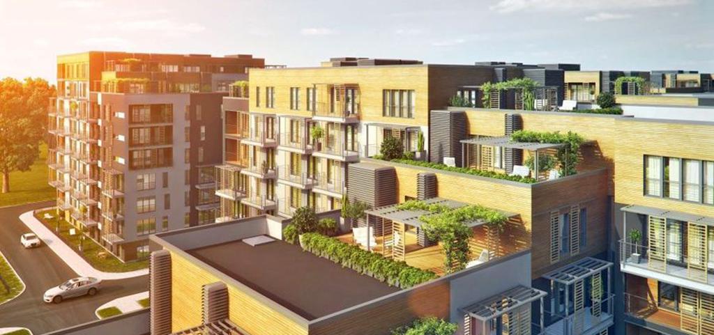 zdjęcie przedstawia apartamentowiec, w którym znajduje się oferowany apartament do wynajęcia w Katowicach