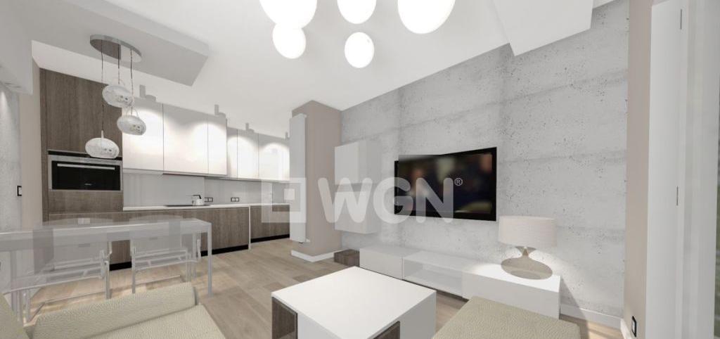 zdjęcie przedstawia salon w apartamencie na wynajem, w Katowicach