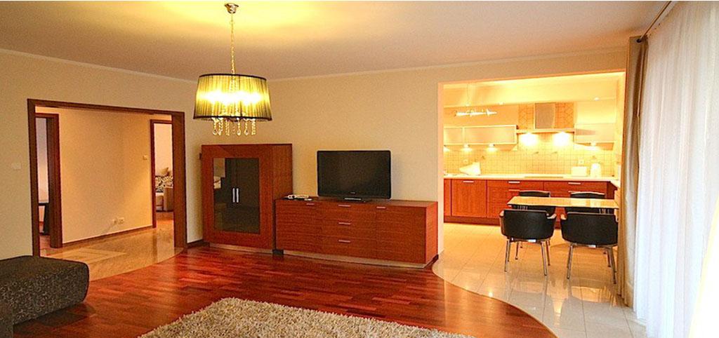 wnętrze apartamentu do wynajęcia w Szczecinie, widok na salon
