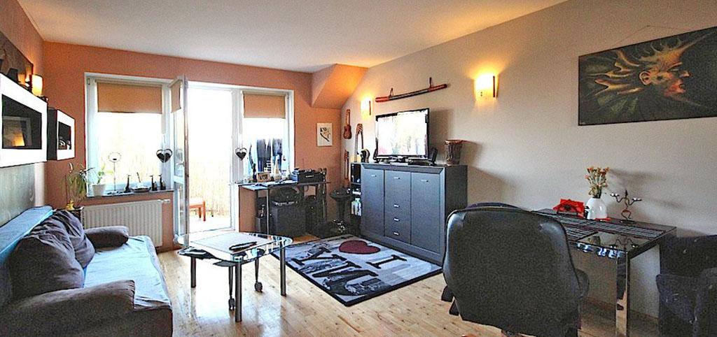 luksusowy salon w apartamencie na wynajem w Szczecinie