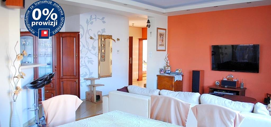 na zdjęciu salon w apartamencie do sprzedaży w Lubinie