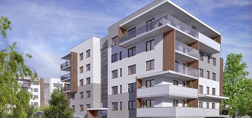 na zdjęciu apartamentowiec w Inowrocławiu, gdzie mieści się oferowany luksusowy apartament do sprzedaży