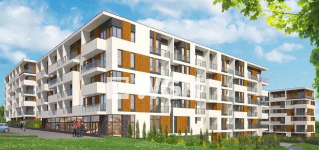 na zdjęciu widok z ulicy na apartamentowiec w Katowicach, w którym mieści się oferowany apartament na sprzedaż