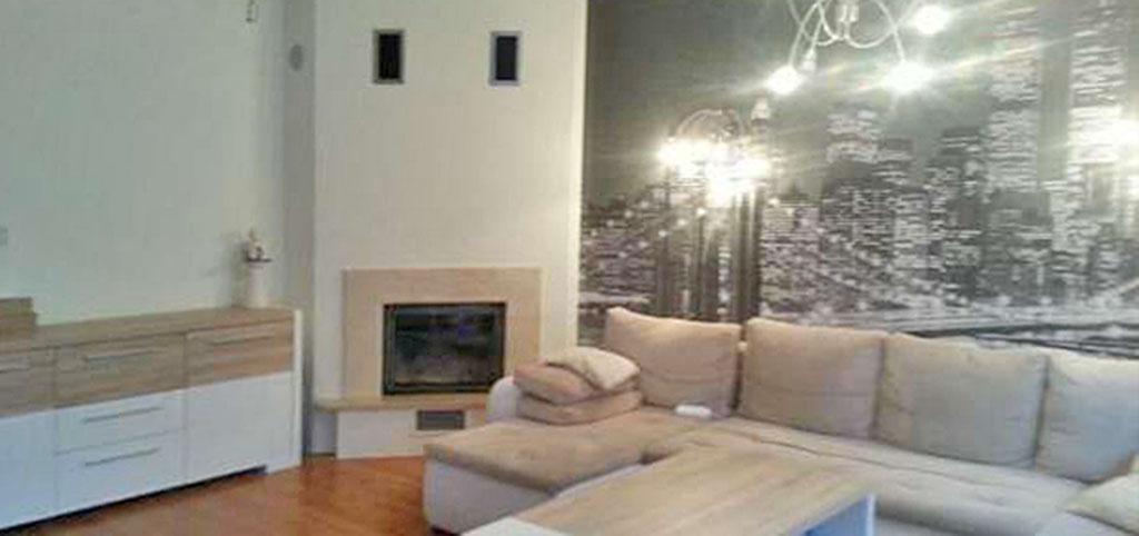 zdjęcie przedstawia salon w apartamencie na wynajem w Szczecinie