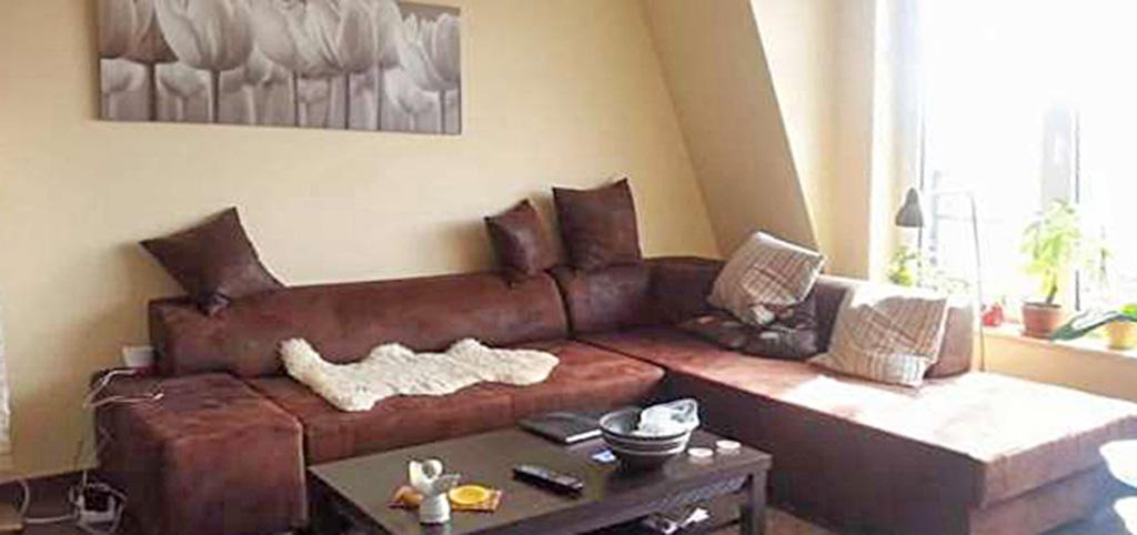 na zdjęciu fragment salonu w apartamencie do wynajęcia w Szczecinie