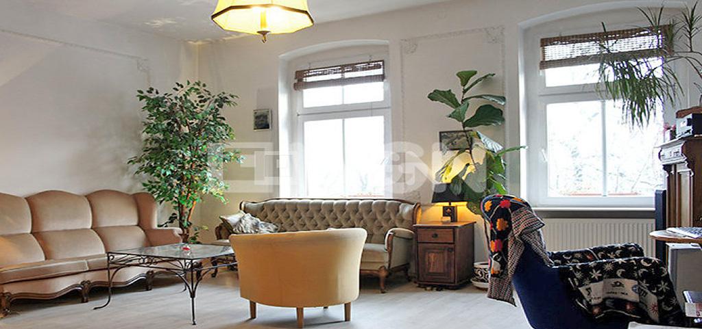 na zdjęciu salon w apartamencie w Szczecinie (Centrum) do wynajmu