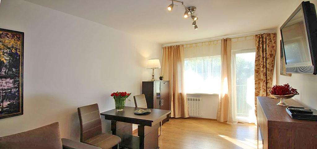 na zdjęciu salon w ekskluzywnym apartamencie na wynajem w Łodzi