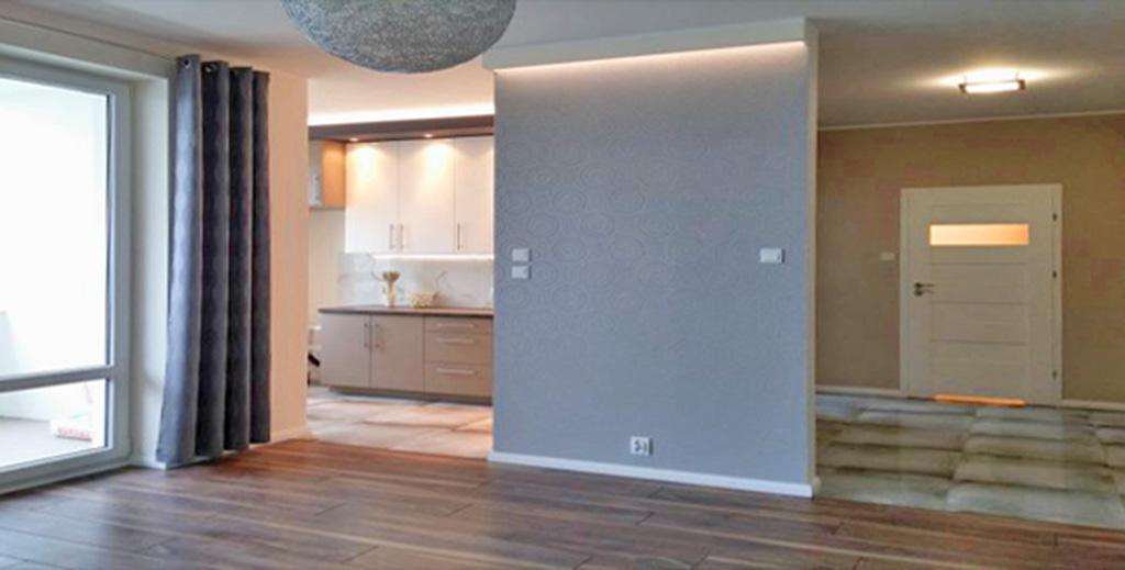 zdjęcie przedstawia nowoczesne i luksusowe wnętrze apartamentu do sprzedaży w Białymstoku