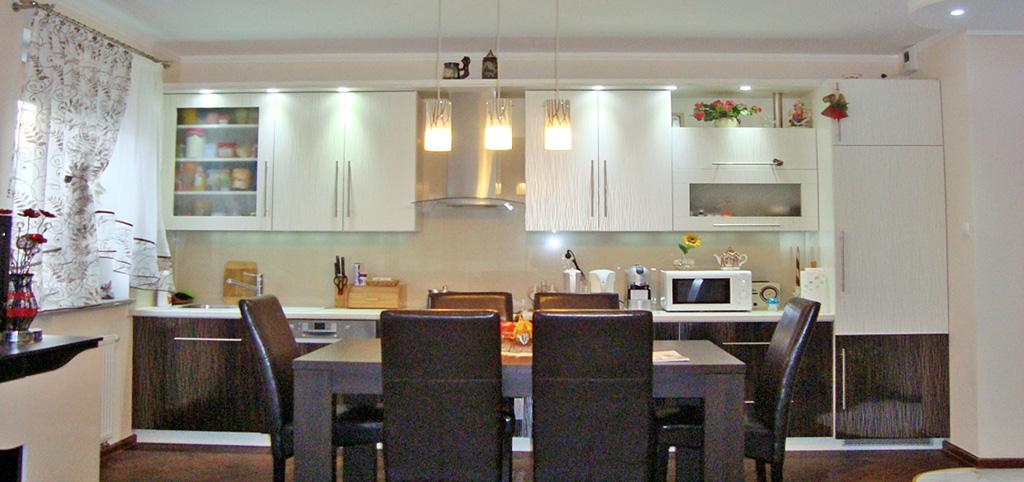 zdjęcie przedstawia aneks kuchenny w apartamencie do wynajęcia w Gorzowie Wielkopolskim