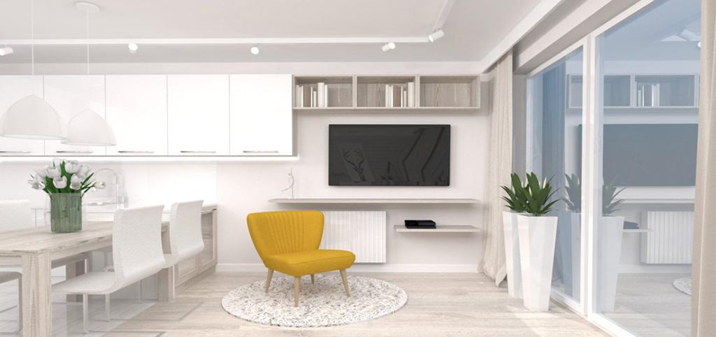 zdjęcie przedstawia luksusowe wnętrze w apartamencie w Katowicach do wynajęcia