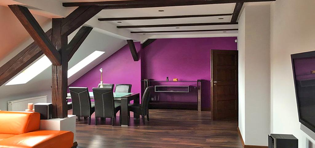 na zdjęciu ekskluzywne wnętrze luksusowego apartamentu do wynajęcia w Katowicach
