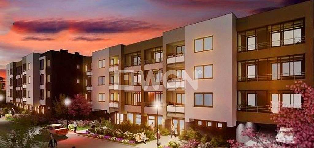 zdjęcie przedstawia apartamentowiec w Słupsku, w którym znajduje się oferowany apartament do sprzedaży