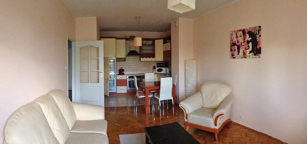 zdjęcie przedstawia luksusowe wnętrze apartamentu do wynajęcia w Toruniu