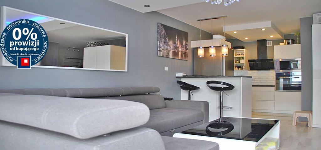 na zdjęciu luksusowe wnętrze apartamentu w okolicy Warszawy na sprzedaż