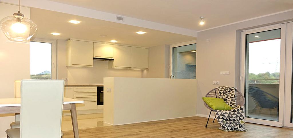zdjęcie prezentuje wnętrze ekskluzywnego apartamentu na wynajem w Jaworznie