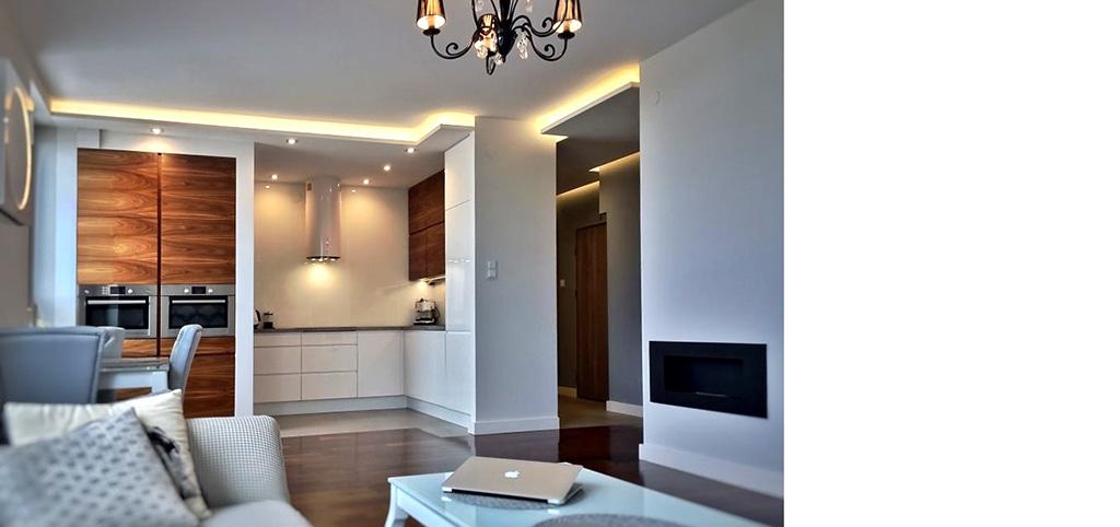 na zdjęciu ekskluzywne wnętrze apartamentu do sprzedaży w Warszawie