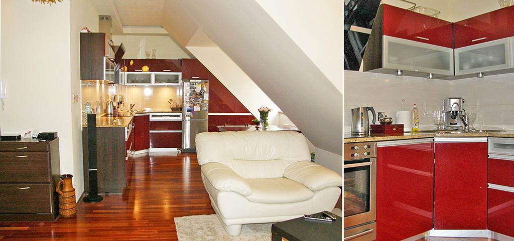 na zdjęciu salon w apartamencie do sprzedaży we Wrocławiu