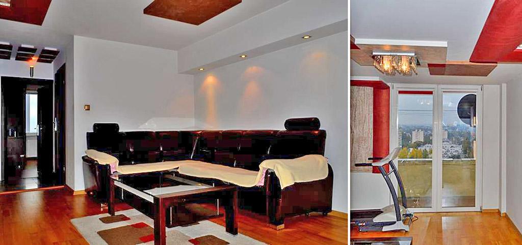 na zdjęciu salon w luksusowym apartamencie do sprzedaży w Łodzi