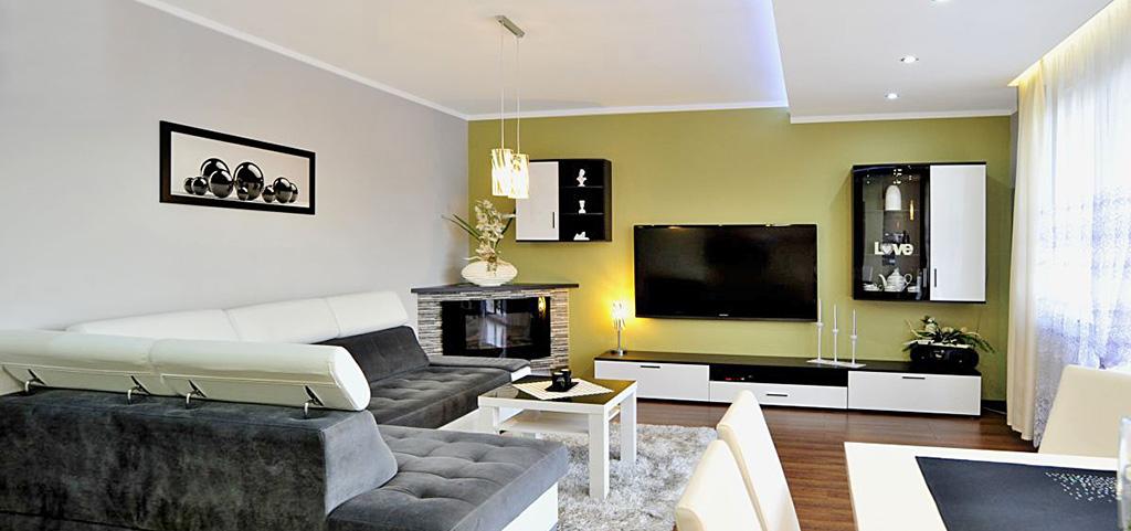 zdjęcie przedstawia salon w apartamencie na sprzedaż w Będzinie