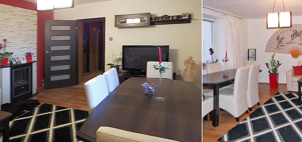 na zdjęciu salon w apartamencie do sprzedaży w Częstochowie
