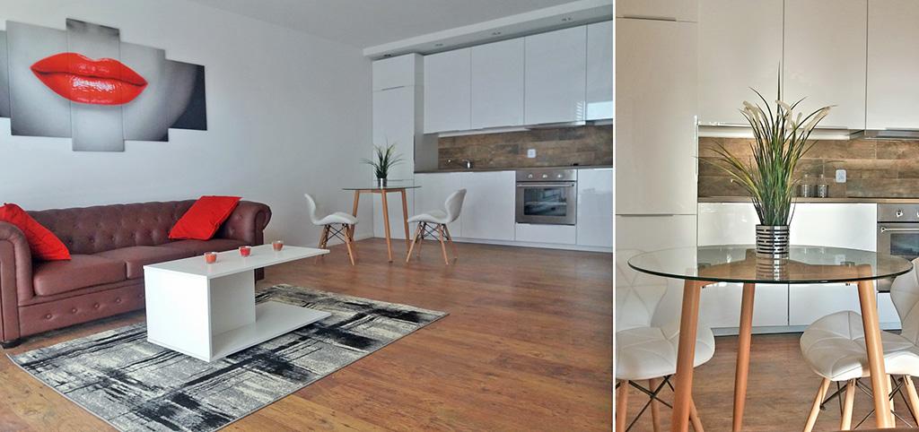 zdjęcie przedstawia luksusowe wnętrze apartamentu do wynajmu w Katowicach