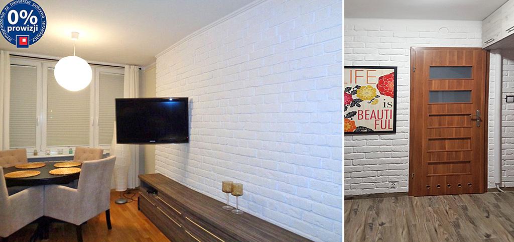na zdjęciu salon oraz jedno z pomieszczeń w luksusowym apartamencie do sprzedaży w Olsztynie
