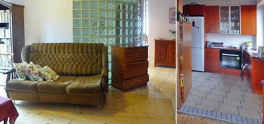 na zdjęciu salon w apartamencie do sprzedaży w Piotrkowie Trybunalskim