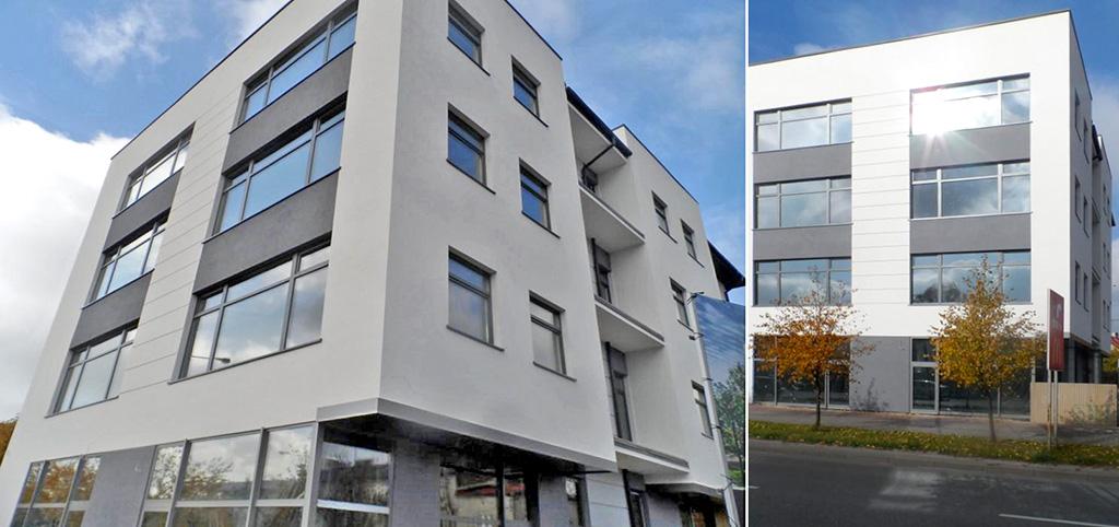 zdjęcie przedstawia apartamentowiec w Piotrkowie Trybunalskim, w którym znajduje się oferowany na sprzedaż apartament