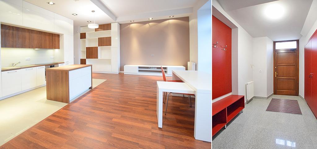 na zdjęciu wnętrze luksusowego apartamentu na wynajem w Suwałkach