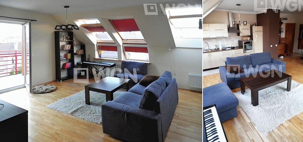 zdjęcie przedstawia salon w apartamencie na sprzedaż w Szczecinie