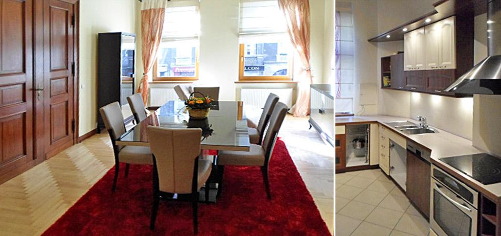 na zdjęciu salon w luksusowym apartamencie na sprzedaż w Szczecinie