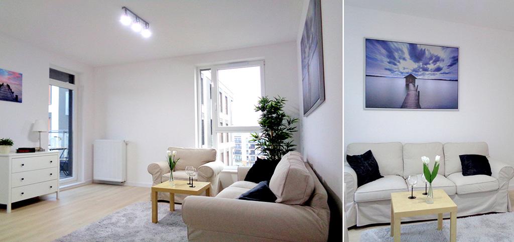 zdjęcie przedstawia wnętrze luksusowego apartamentu do sprzedaży na Mazurach