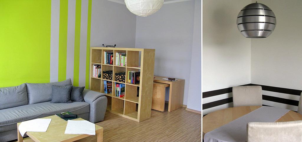 na zdjęciu nowoczesny salon w apartamencie do sprzedaży w Łodzi