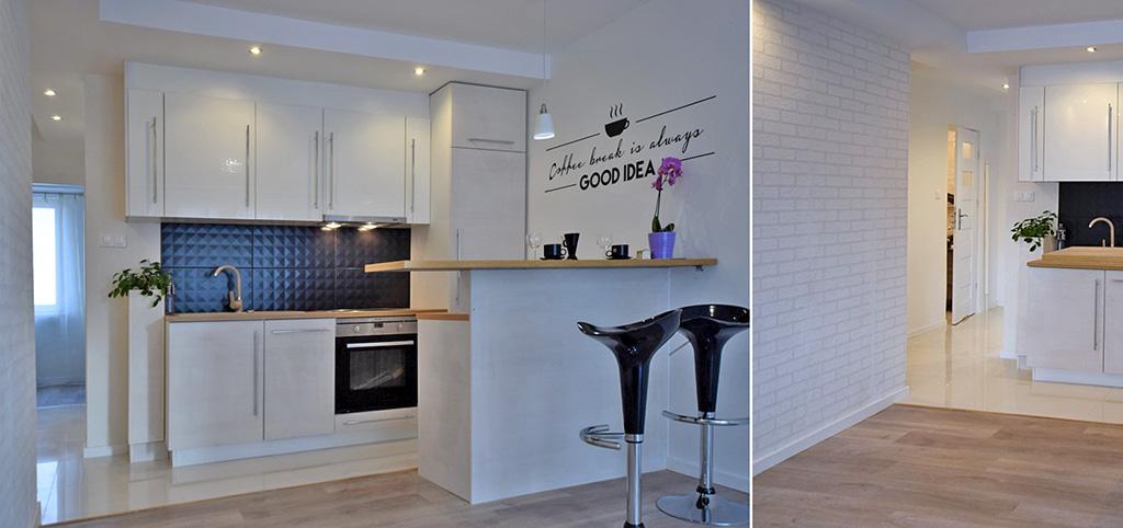 zdjęcie przedstawia aneks kuchenny w luksusowym apartamencie do sprzedaży w Białymstoku