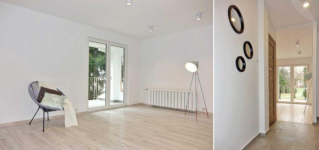 zdjęcie przedstawia luksusowe i przestronne wnętrze apartamentu do sprzedaży w Jaworznie