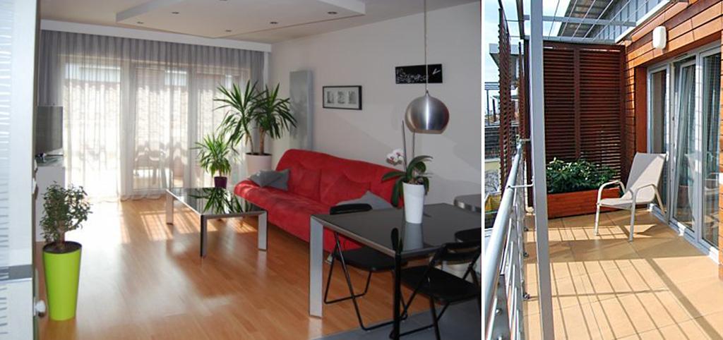 na zdjęciu nowoczesne i ekskluzywne wnętrze apartamentu do sprzedaży w Katowicach