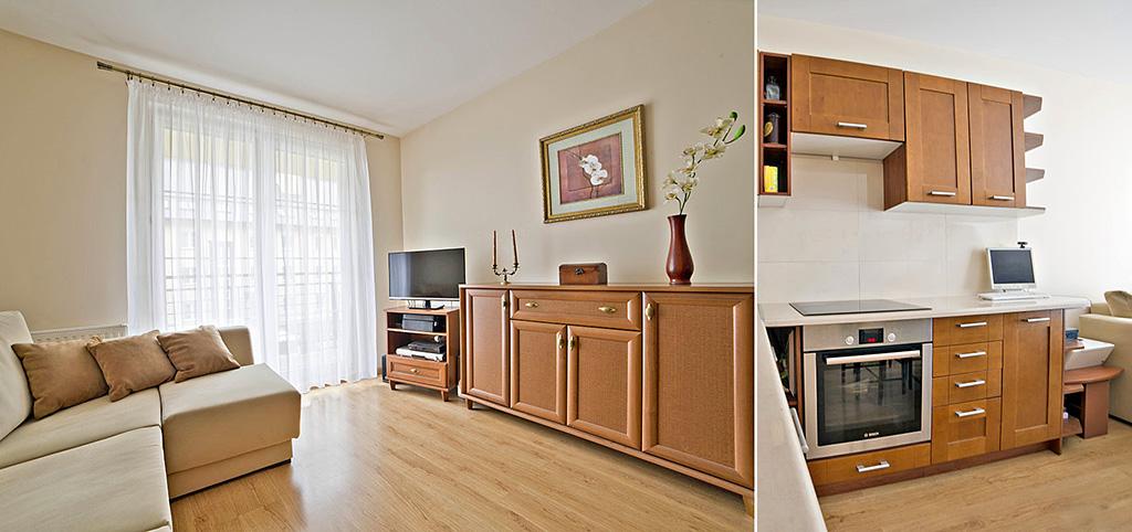 zdjęcie przedstawia salon w ekskluzywnym apartamencie do sprzedaży w Olsztynie