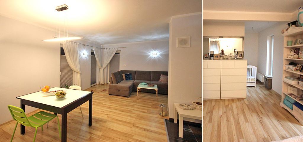zdjęcie przedstawia salon w ekskluzywnym apartamencie do sprzedaży w Szczecinie
