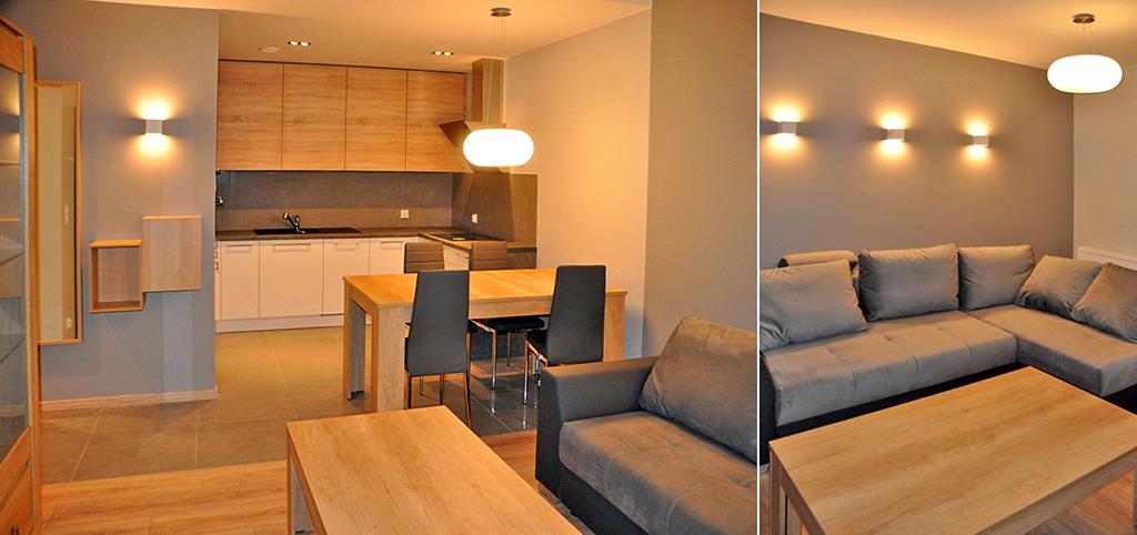 zdjęcie przedstawia fragment wnętrze ekskluzywnego apartamentu do wynajmu w Szczecinie