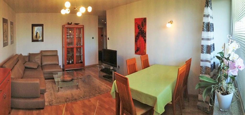 na zdjęciu salon w luksusowym apartamencie do wynajęcia w Katowicach