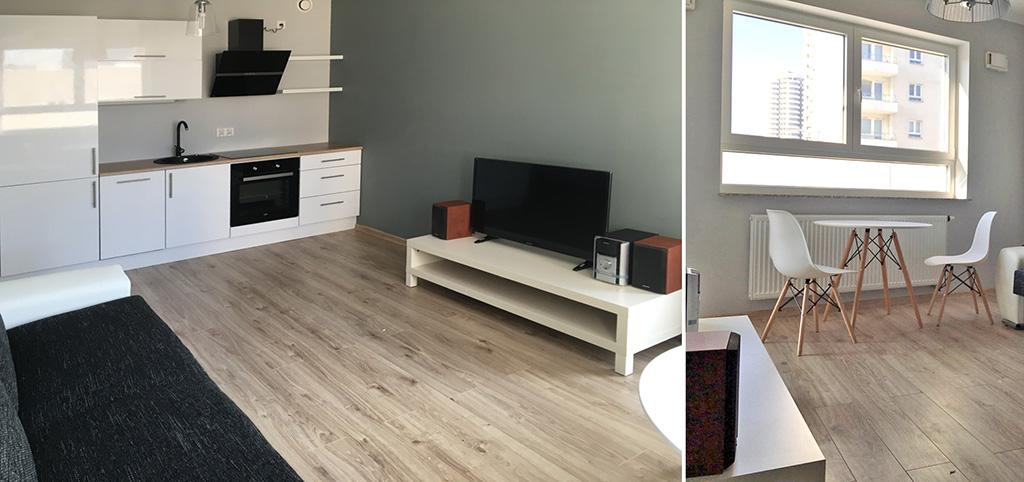 zdjęcie przedstawia luksusowy salon w ekskluzywnym apartamencie do wynajmu w Katowicach