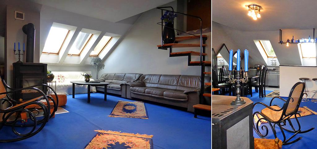 zdjęcie prezentuje luksusowy salon w ekskluzywnym apartamencie do wynajęcia w Kwidzynie