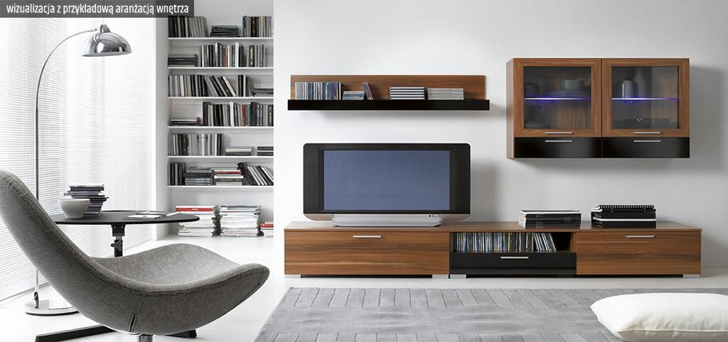 zdjęcie prezentuje wizualizację z przykładową aranżacją wnętrza ekskluzywnego apartamentu do sprzedaży w Legnicy