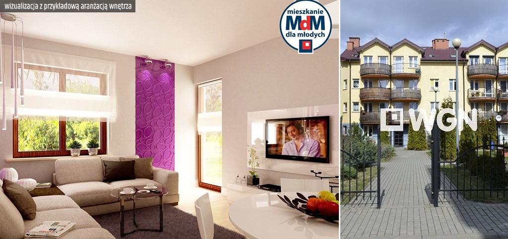 zdjęcie prezentuje wizualizację z przykładową aranżacją wnętrze luksusowego apartamentu do sprzedaży w Legnicy