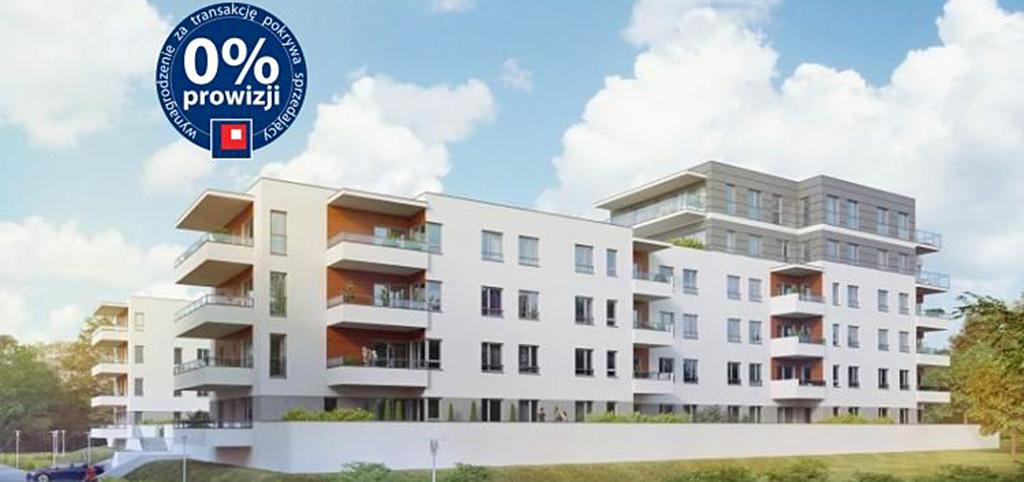 zdjęcie przedstawia apartamentowiec w Olsztynie, w którym mieści się oferowany apartament na sprzedaż